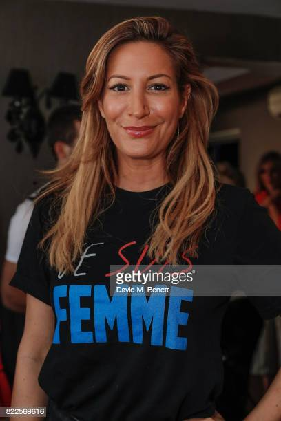 Laura Pradelska attends the launch of empowering tshirt collection egaliTEE made in collaboration with Habitat for Humanity at Geales Restaurant on...