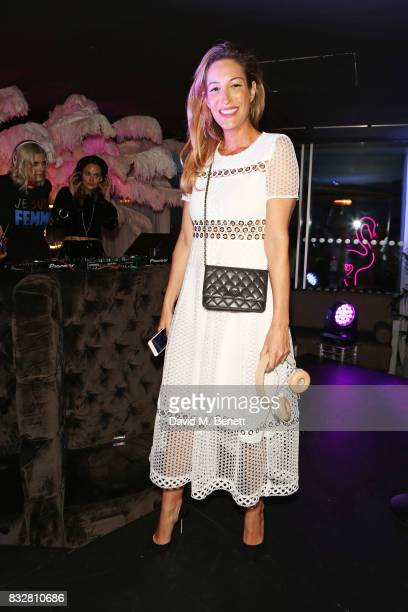 Laura Pradelska attends the Look Of The Day launch party in the Radio Rooftop Bar at the ME Hotel on August 16 2017 in London England