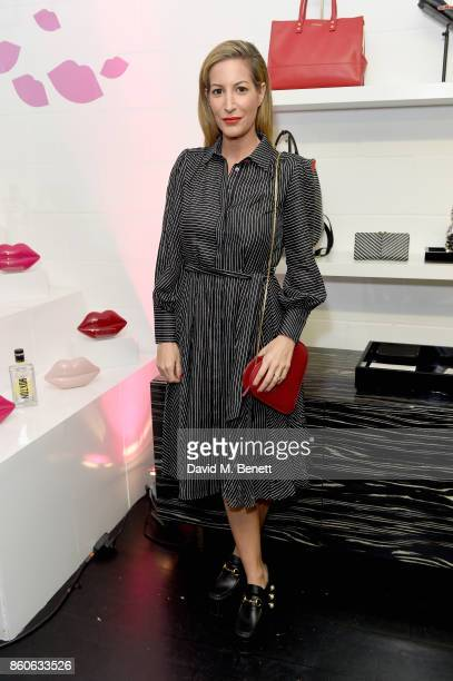 Laura Pradelska attends the Lulu x Vaseline launch party at Lulu Guinness at Covent Garden on October 12 2017 in London England