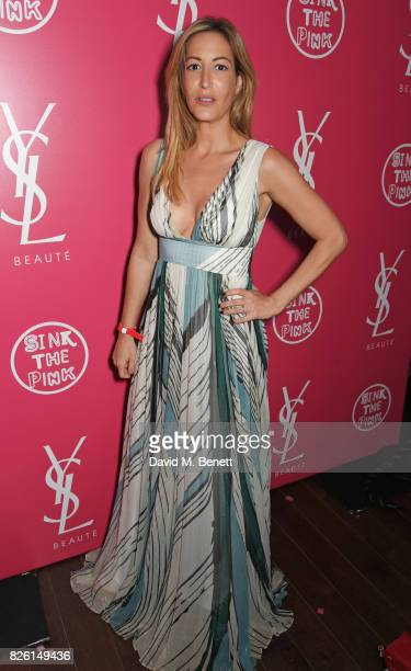 Laura Pradelska attends the #YSLBeautyClub party in collaboration with Sink The Pink at The Curtain on August 3 2017 in London England