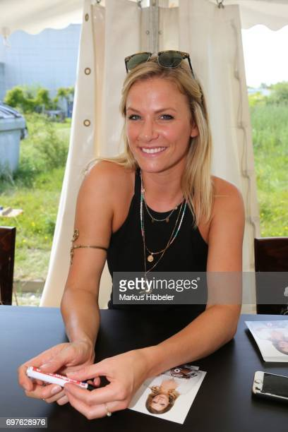 Laura Preiss poses during the celebration of 2500 episodes of 'Rote Rosen' on June 18 2017 in Lueneburg Germany