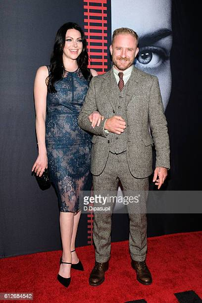 Laura Prepon and Ben Foster attend 'The Girl on the Train' New York premiere at Regal EWalk Stadium 13 on October 4 2016 in New York City