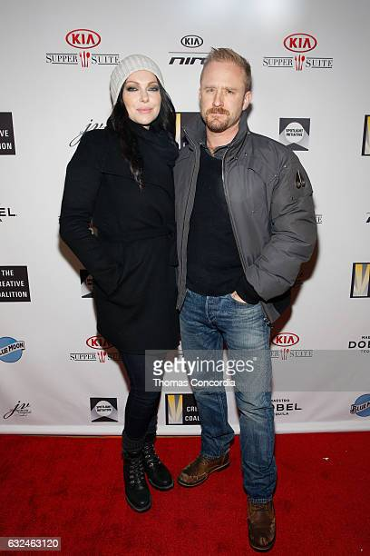 Laura Prepon and Ben Foster attend the Kia Supper Suite Hosts The Creative Coalition's Annual Spotlight Awards on January 22 2017 in Park City Utah
