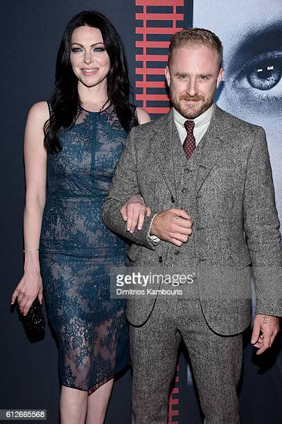 Laura Prepon and Ben Foster attend the 'The Girl On The Train' New York Premiere at Regal EWalk Stadium 13 on October 4 2016 in New York City