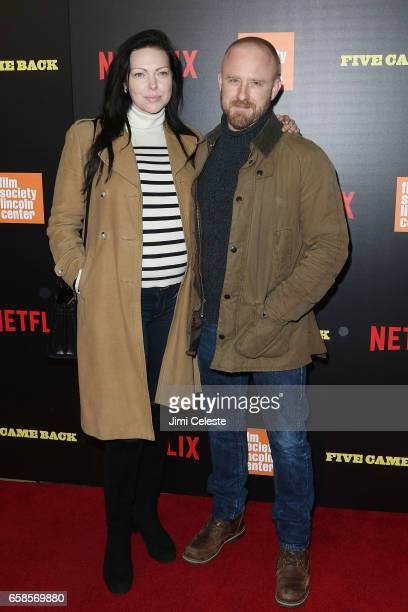 Laura Prepon and Ben Foster attends the world premiere of 'Five Came Back' at Alice Tully Hall Lincoln Center on March 27 2017 in New York City