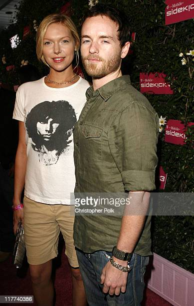 Laura Prepon and Christopher Masterson during TMobile Sidekick 3 Launch Red Carpet at 6215 Sunset Blvd in Los Angeles California United States