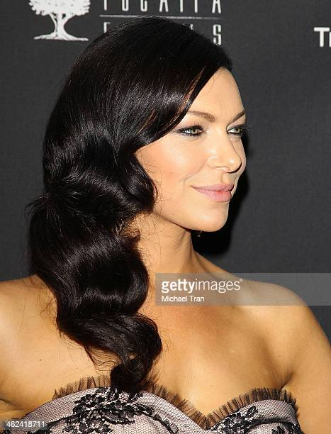 Laura Prepon arrives at The Weinstein Company and NetFlix 2014 Golden Globe Awards after party held on January 12 2014 in Beverly Hills California