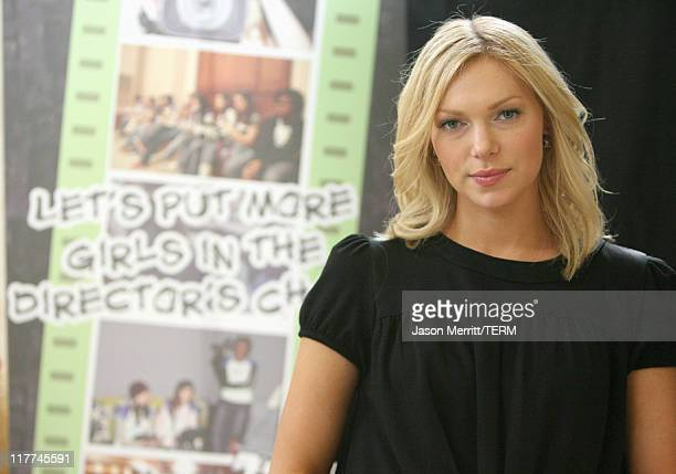 Laura Prepon during Laura Prepon Shoots a Short Film with Stayfree Girls in the Director's Chair at Private Residence in Los Angeles California...