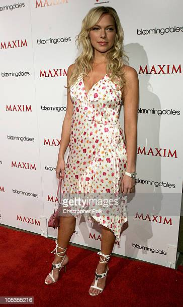 Laura Prepon during Maxim and Bloomingdales Bowl to Benefit 'Rock the Vote' Arrivals at Lucky Strike Lanes in Hollywood California United States