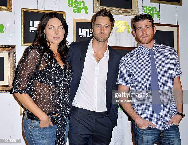 Laura Prepon Ryan Eggold and Bryan Greenberg attend the 'The Kitchen' screening during the 2012 GenArt Film Festival closing night at the School of...