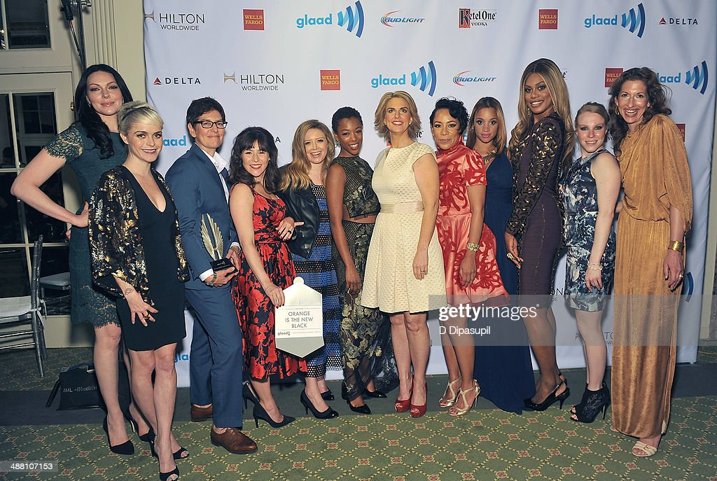 <a gi-track='captionPersonalityLinkClicked' href=/galleries/search?phrase=Laura+Prepon&family=editorial&specificpeople=211299 ng-click='$event.stopPropagation()'>Laura Prepon</a>, <a gi-track='captionPersonalityLinkClicked' href=/galleries/search?phrase=Taryn+Manning&family=editorial&specificpeople=202146 ng-click='$event.stopPropagation()'>Taryn Manning</a>, <a gi-track='captionPersonalityLinkClicked' href=/galleries/search?phrase=Yael+Stone&family=editorial&specificpeople=4120749 ng-click='$event.stopPropagation()'>Yael Stone</a>, <a gi-track='captionPersonalityLinkClicked' href=/galleries/search?phrase=Natasha+Lyonne&family=editorial&specificpeople=1537481 ng-click='$event.stopPropagation()'>Natasha Lyonne</a>, <a gi-track='captionPersonalityLinkClicked' href=/galleries/search?phrase=Samira+Wiley&family=editorial&specificpeople=10947919 ng-click='$event.stopPropagation()'>Samira Wiley</a>, <a gi-track='captionPersonalityLinkClicked' href=/galleries/search?phrase=Sarah+Kate+Ellis&family=editorial&specificpeople=12165810 ng-click='$event.stopPropagation()'>Sarah Kate Ellis</a>, <a gi-track='captionPersonalityLinkClicked' href=/galleries/search?phrase=Selenis+Leyva&family=editorial&specificpeople=7787754 ng-click='$event.stopPropagation()'>Selenis Leyva</a>, <a gi-track='captionPersonalityLinkClicked' href=/galleries/search?phrase=Dascha+Polanco&family=editorial&specificpeople=11068335 ng-click='$event.stopPropagation()'>Dascha Polanco</a>, <a gi-track='captionPersonalityLinkClicked' href=/galleries/search?phrase=Laverne+Cox&family=editorial&specificpeople=5848606 ng-click='$event.stopPropagation()'>Laverne Cox</a>, <a gi-track='captionPersonalityLinkClicked' href=/galleries/search?phrase=Emma+Myles&family=editorial&specificpeople=582856 ng-click='$event.stopPropagation()'>Emma Myles</a> and <a gi-track='captionPersonalityLinkClicked' href=/galleries/search?phrase=Alysia+Reiner&family=editorial&specificpeople=655685 ng-click='$event.stopPropagation()'>Alysia Reiner<