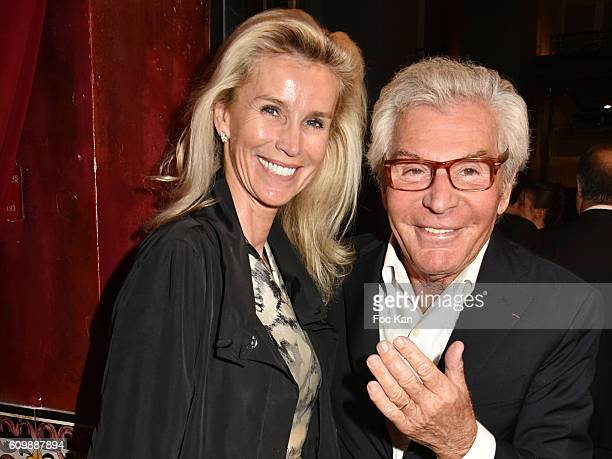 Laura Restelli and JeanDaniel Lorieux attend the Buddha Bar 20th Anniversary Party at Buddha Bar Club on September 22 2016 in Paris France