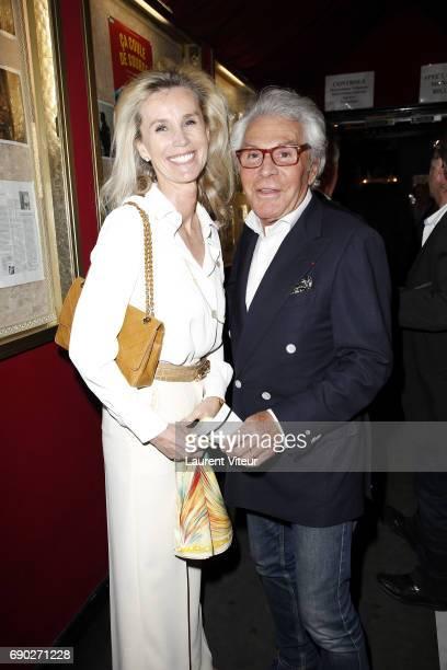 Laura Restelli Brizard and JeanDaniel Lorieux attend 'Ca Coule de Source ' Theater Play at Theatre de la Gaite Montparnasse on May 30 2017 in Paris...