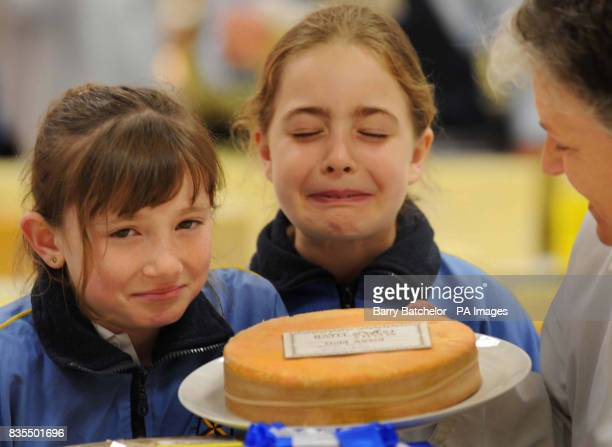 Laura Rider aged 11 and Ruby Hill aged 10 both from Wells Cathedral School who were part of the judging panel for Britain's first ever Smelliest...