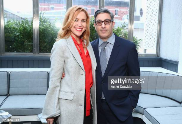 Laura Rister and Jason Weinberg attend as Brooks Brothers and Zac Posen host the premiere party for 'House Of Z' at Tribeca Film Festival at La...