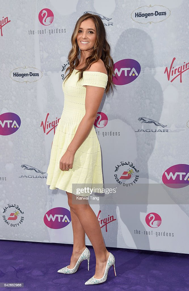 <a gi-track='captionPersonalityLinkClicked' href=/galleries/search?phrase=Laura+Robson&family=editorial&specificpeople=5421044 ng-click='$event.stopPropagation()'>Laura Robson</a> arrives for the WTA Pre-Wimbledon Party at Kensington Roof Gardens on June 23, 2016 in London, England.