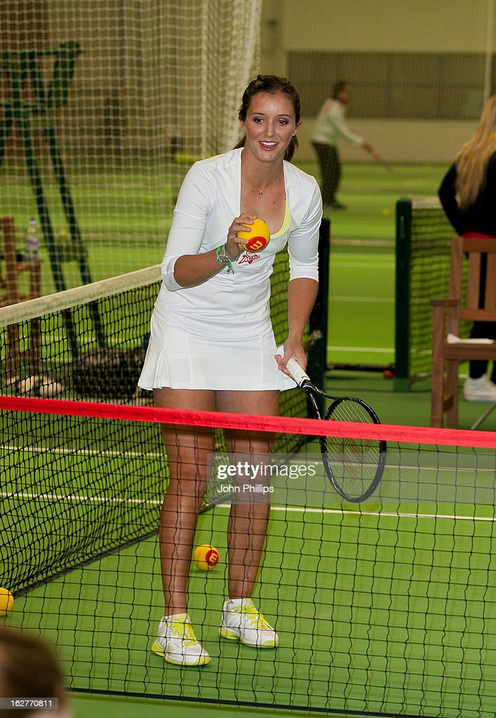 <a gi-track='captionPersonalityLinkClicked' href=/galleries/search?phrase=Laura+Robson&family=editorial&specificpeople=5421044 ng-click='$event.stopPropagation()'>Laura Robson</a> attends a photocall as <a gi-track='captionPersonalityLinkClicked' href=/galleries/search?phrase=Laura+Robson&family=editorial&specificpeople=5421044 ng-click='$event.stopPropagation()'>Laura Robson</a> is announced as the face of Virgin Active on February 26, 2013 in Chiswick, England.