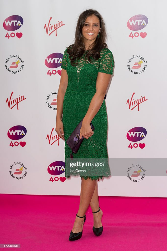 <a gi-track='captionPersonalityLinkClicked' href=/galleries/search?phrase=Laura+Robson&family=editorial&specificpeople=5421044 ng-click='$event.stopPropagation()'>Laura Robson</a> attends the annual pre-Wimbledon party at Kensington Roof Gardens on June 20, 2013 in London, England.