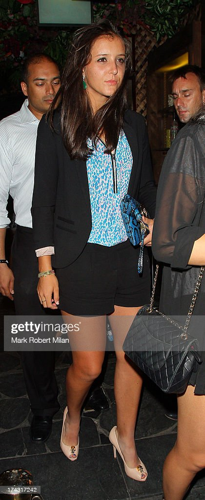 Laura Robson leaving Mahiki night club on July 23, 2013 in London, England.