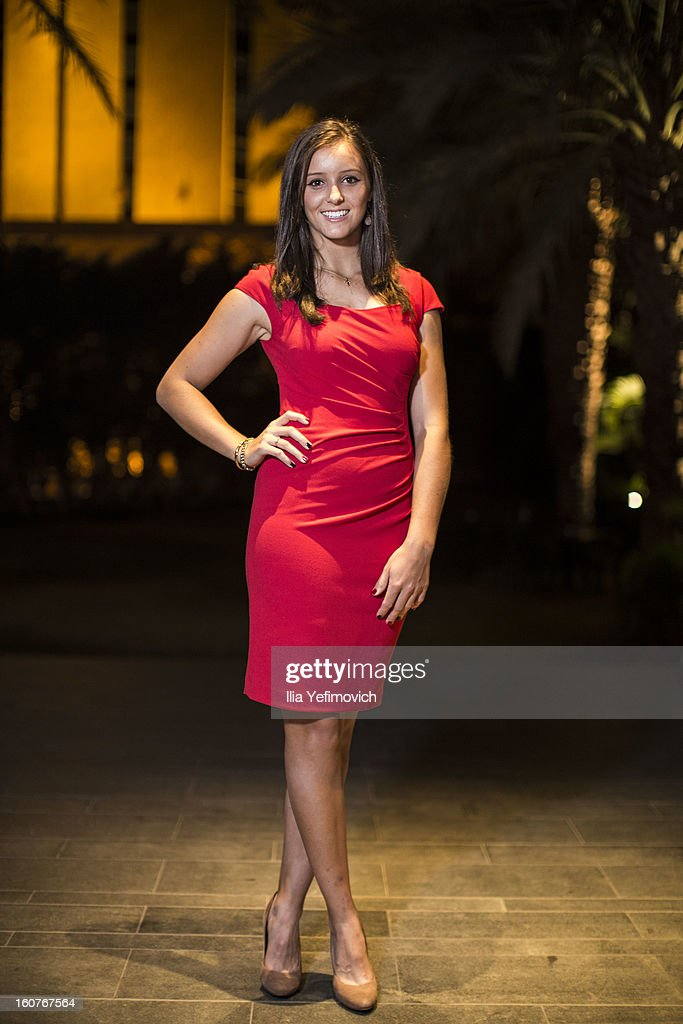 <a gi-track='captionPersonalityLinkClicked' href=/galleries/search?phrase=Laura+Robson&family=editorial&specificpeople=5421044 ng-click='$event.stopPropagation()'>Laura Robson</a> of Great Britain posing for a picture before the official team dinner ahead of the Fed Cup Group B matches in the Euro/Africa Zone Group 1 at the Sport Hotel on February 5, 2013 in Eilat, Israel.