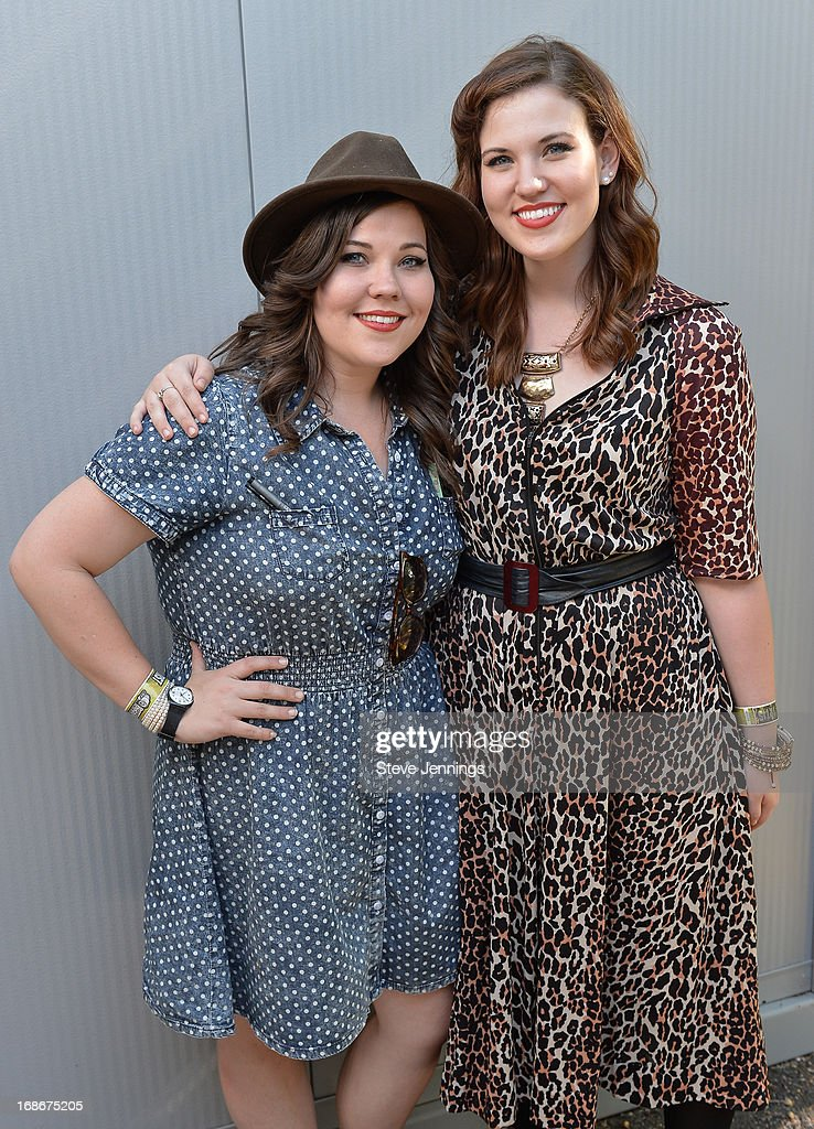 Laura Rogers and Lydia Rogers of Secret Sisters backstage at Bottle Rock Napa Valley Festival at Napa Valley Expo on May 12, 2013 in Napa, California.