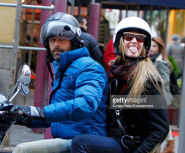 Laura Sanchez and David Ascanio are seen on January 9 2013 in Madrid Spain