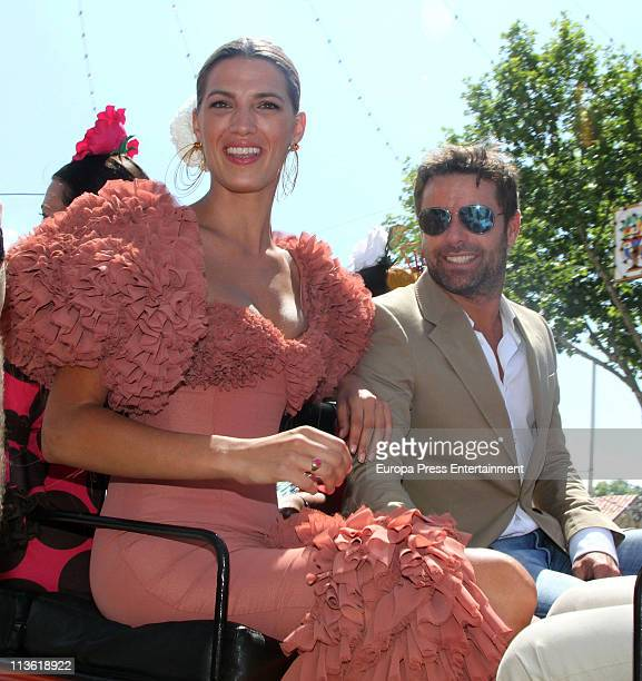 Laura Sanchez and David Ascanio attend 'Feria de Abril 2011' the traditional Seville's Fair at El Real on May 4 2011 in Seville Spain