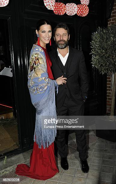 Laura Sanchez and David Ascanio attend Giancarlo Giammetti birthday party on February 6 2015 in Madrid Spain