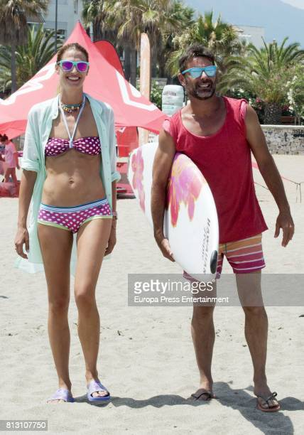 Laura Sanchez and David Ascanio present 'Bloomers Day Dia Saludable' by BloomersBikini on July 11 2017 in Marbella Spain