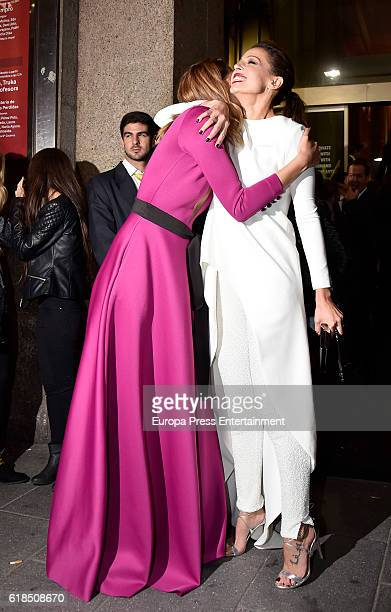 Laura Sanchez and Eva Gonzalez are seen arriving at ELLE 30th anniversay party at the Circulo de Bellas Artes on October 26 2016 in Madrid Spain