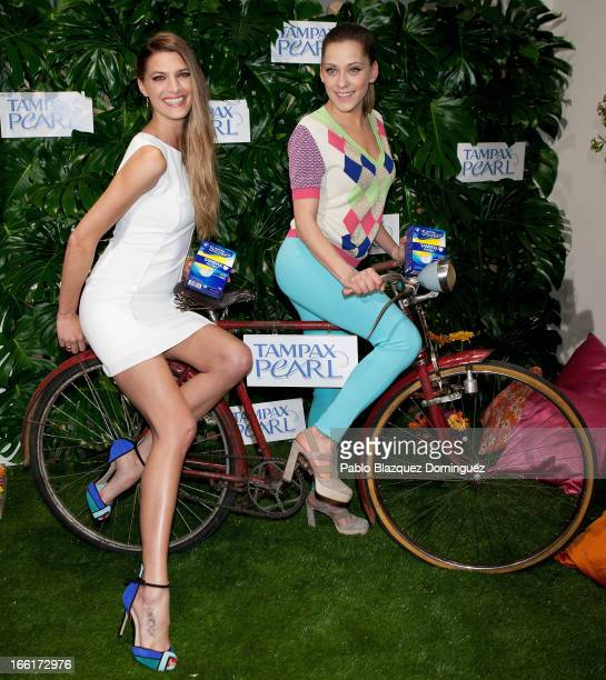 Laura Sanchez and Maria Leon present Spring Party by Tampax Pearl at Loft Aguas on April 9 2013 in Madrid Spain
