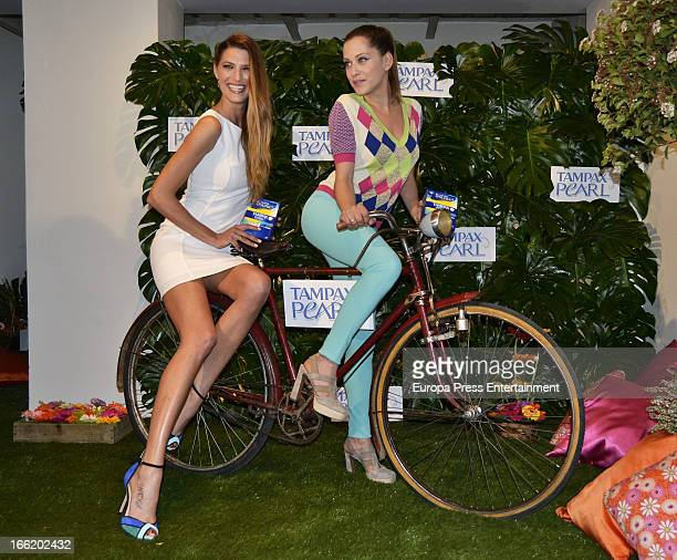 Laura Sanchez and Maria Leon present Spring Party by Tampax Pearl on April 9 2013 in Madrid Spain