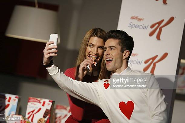Laura Sanchez and Pelayo Diaz Present 'Healthy' By Special K on January 15 2014 in Madrid Spain