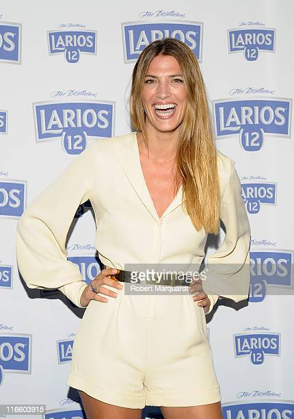 Laura Sanchez attends a photocall for 'Calendario Larios 12' at the Esferic on June 16 2011 in Barcelona Spain
