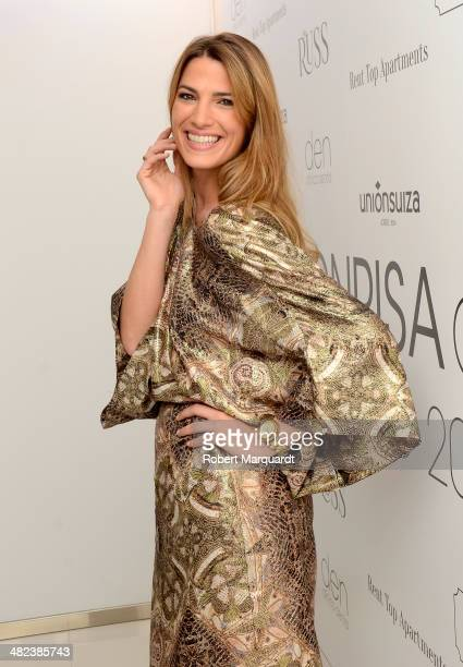 Laura Sanchez attends a photocall for the 'Sonrisa Den' awards on April 3 2014 in Barcelona Spain