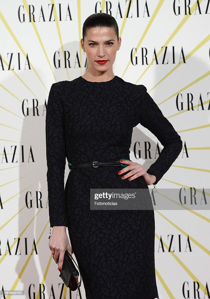Laura Sanchez attends Grazia Magazine launch party at the Circo Prize Theater on February 12, 2013 in Madrid, Spain.