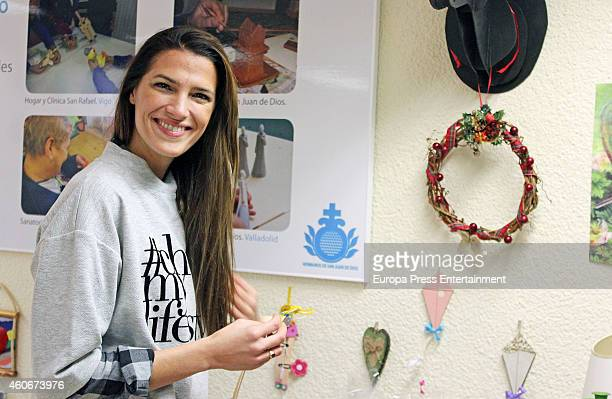 Laura Sanchez inaugurates the charity market at Albergue de San Juan de Dios on December 18 2014 in Madrid Spain