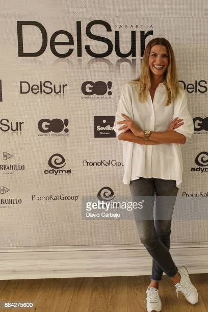 Laura Sanchez poses at the Fashion Show Pasarela del Sur on October 20 2017 in Seville Spain