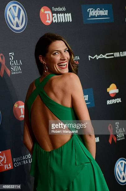 Laura Sanchez poses during a photocall for 'Gala Against HIV 2014' at the Museu Nacional d'Art de Catalunya on November 24 2014 in Barcelona Spain