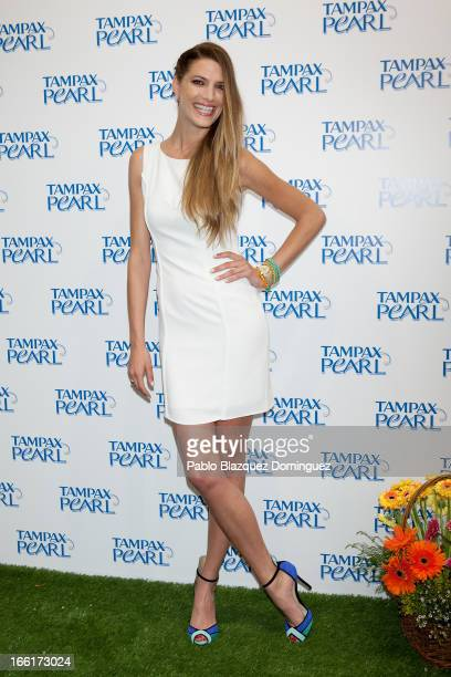 Laura Sanchez presents Spring Party by Tampax Pearl at Loft Aguas on April 9 2013 in Madrid Spain