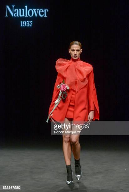 Laura Sanchez walks the runway at the Naulover show during the Barcelona 080 Fashion Week Autumn/Winter 2017 at Teatre Nacional de Catalunya on...