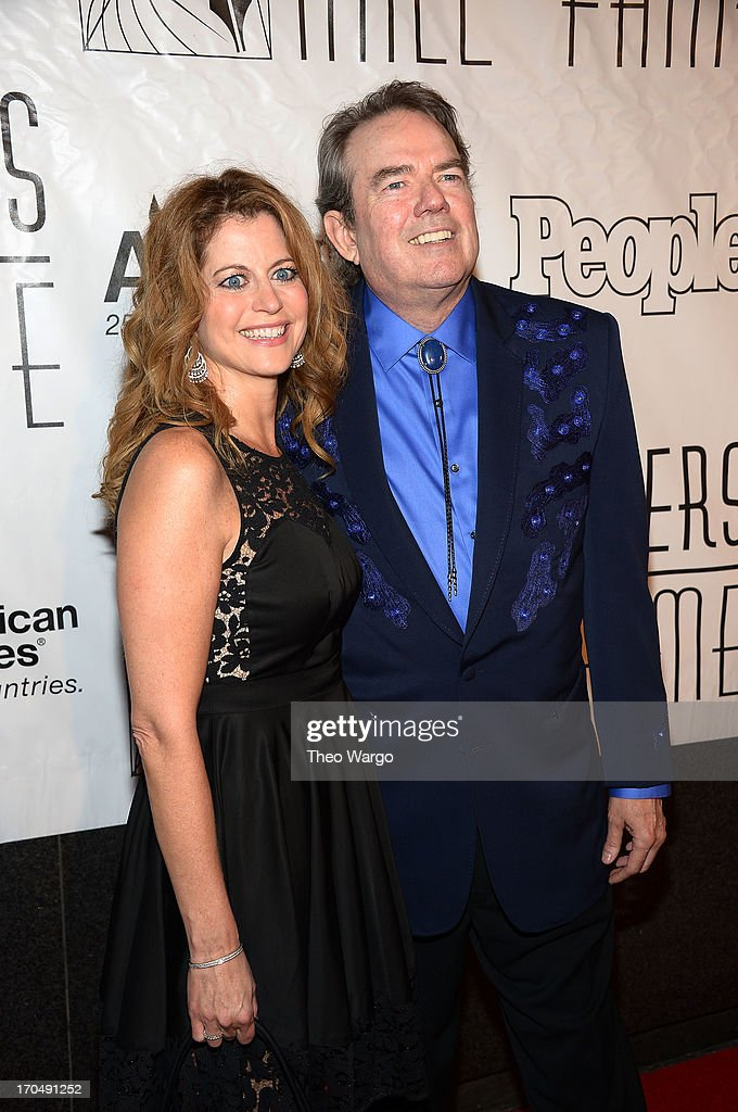 Laura Savini and <a gi-track='captionPersonalityLinkClicked' href=/galleries/search?phrase=Jimmy+Webb&family=editorial&specificpeople=2773908 ng-click='$event.stopPropagation()'>Jimmy Webb</a> attend the Songwriters Hall of Fame 44th Annual Induction and Awards Dinner at the New York Marriott Marquis on June 13, 2013 in New York City.