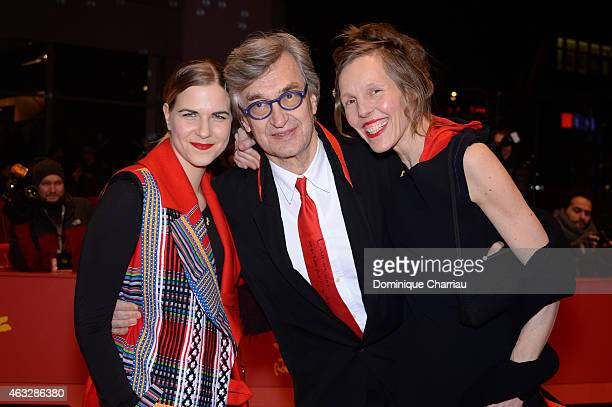 Laura Schmidt director Wim Wenders and wife Donata Wenders attend the 'The American Friend' screening during the 65th Berlinale International Film...