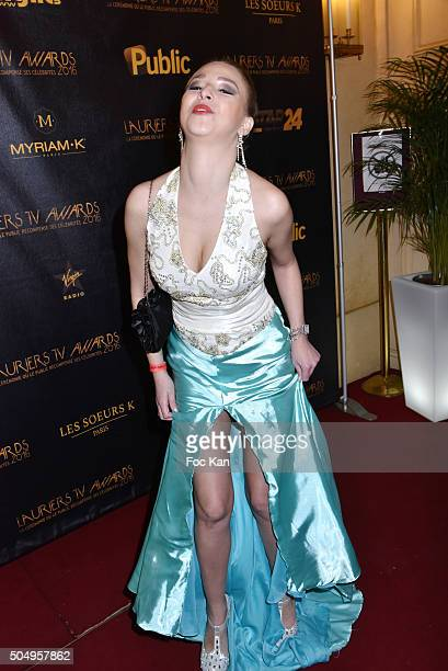Laura Sezn attends The 'Lauriers TV Awards 2016 Ceremony' At Theatre des Varietes In Paris on January 13 2016 in Paris France