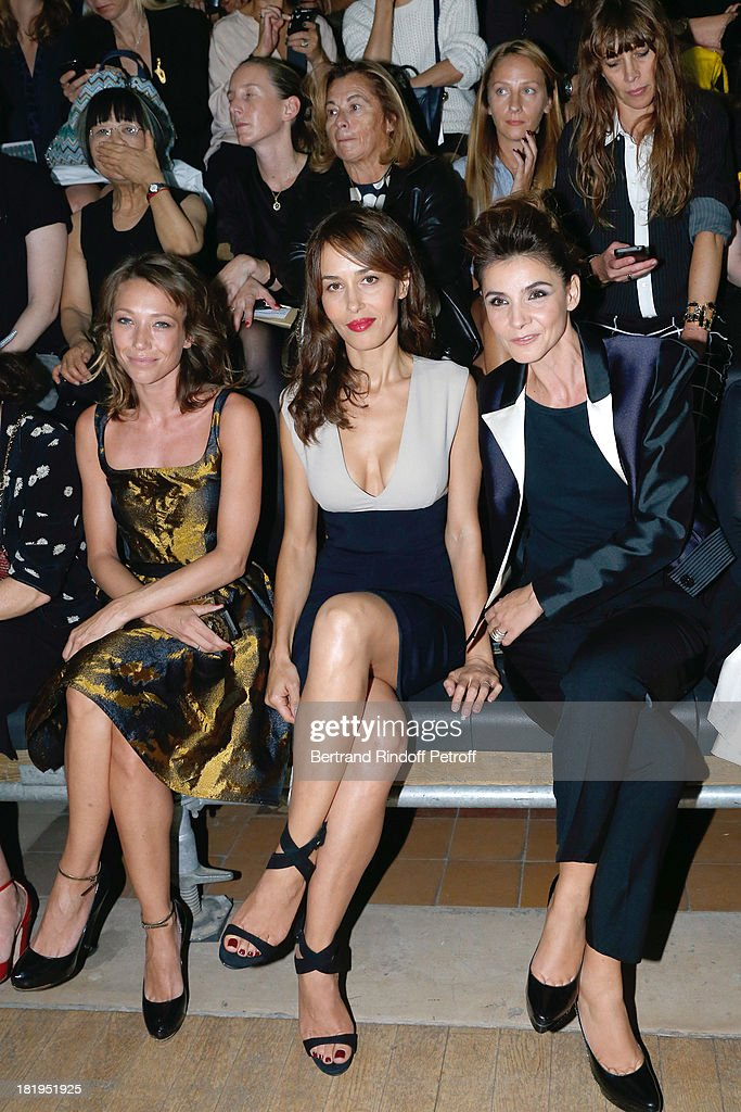 Laura Smet Dolores Chaplin and Princess of Savoy Clotilde Courau attend Lanvin show as part of the Paris Fashion Week Womenswear Spring/Summer 2014...