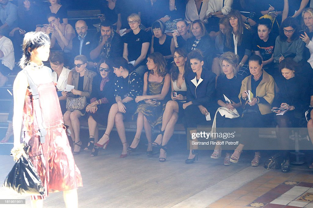 Laura Smet, Dolores Chaplin, Princess of Savoy, Clotilde Courau and Anne-Florence Schmitt attend Lanvin show as part of the Paris Fashion Week Womenswear Spring/Summer 2014, held at 'Ecole des beaux Arts on September 26, 2013 in Paris, France.
