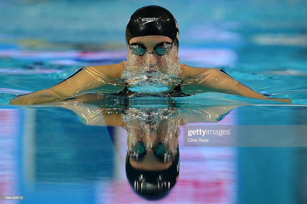 Laura Sogar of USA competes in the Women's 200m Breaststroke Final during day five of the 11th FINA Short Course World Championships at the Sinan Erdem Dome on December 16, 2012 in Istanbul, Turkey.