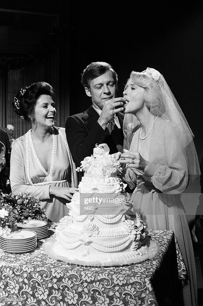 LIVES -- 'Laura Spencer & Bill Horton Wedding' Pictured: (l-r) Susan Seaforth Hayes as Julie Banning, Edward Mallory as William 'Bill' Horton, <a gi-track='captionPersonalityLinkClicked' href=/galleries/search?phrase=Susan+Flannery&family=editorial&specificpeople=653995 ng-click='$event.stopPropagation()'>Susan Flannery</a> as Laura Spencer Horton --