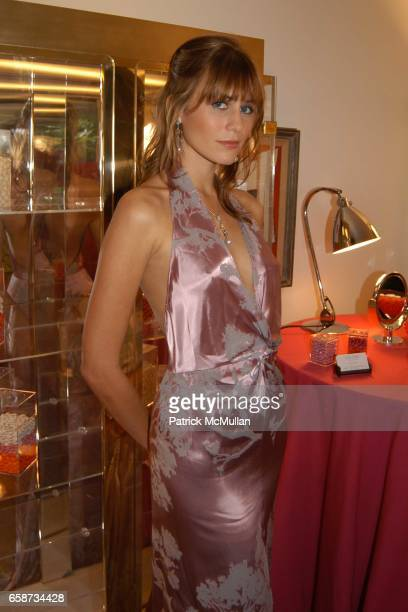 Laura Stacey modeling Jewelery by Autore attend the Boudoir Oscar Suite Sponsored by Mario Badescu Vidal Sassoon and Creative Mail Design at the...