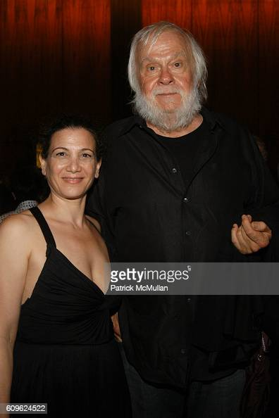 Laura Stein and John Baldessari attend MARIAN GOODMAN GALLERY Thirtieth Anniversary Dinner at Four Seasons Restaurant on September 10 2007 in New...